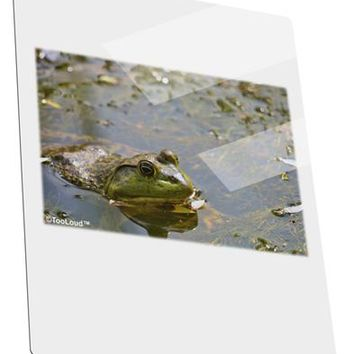 Bullfrog In Water Metal Panel Wall Art Portrait - Choose Size by TooLoud