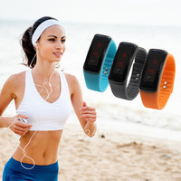 Fashion Men/Women Sport LED Waterproof Rubber Bracelet Digital Wrist Watch + Gift Box