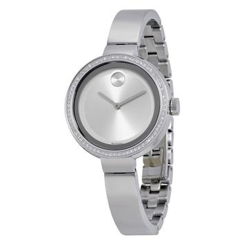 Movado Bold Silver Dial Stainless Steel Ladies Watch 3600281
