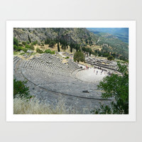 Theatre at Delphi Art Print by Kelli Schneider