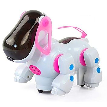 Smart electric robot car dog toys doll Automatic steering car Pet dog models Boy light-up Kids toys Musical Baby toys