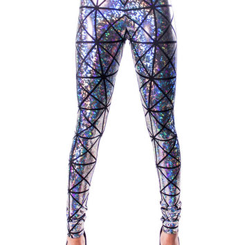 Silver & Black Hologram Disco Leggings (((FALL/WINTER '12/'13)))