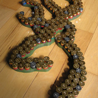 Recycled shotgun shell art Browning hunting deer wall hanger art