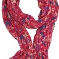 LibbySue-Wildflower Floral Print Scarf in Your Choice of Colors in Dusty Blue Gray