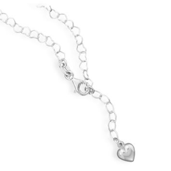 Linked Heart Sterling Silver Anklet