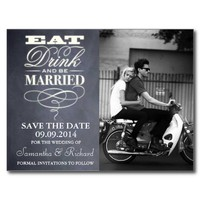 Eat, Drink And Be Married Wedding Save The Date