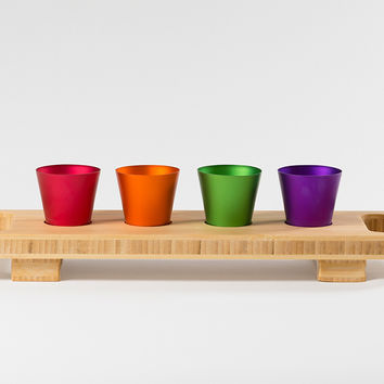 Bottoms Up Shot Glass and Tray Set