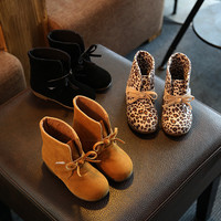 2016 Fashion Children winter shoes girls leopard boots kids snow boots  ankle boots for toddler girls winter shoes