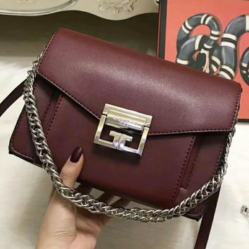 Celine Fashion Casual Button bag Women Shopping Leather Print Tote Handbag Shoulder Bag Wine red  G-QS-MP-JZLB