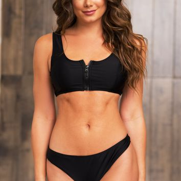 San Andres Island Two Piece Swimsuit - Black