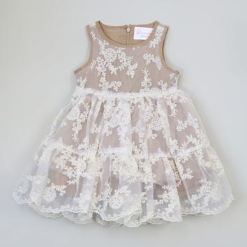 Blossom Couture Almond Lace Dress - Toddler & Girls | zulily