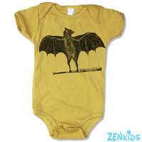 Baby One-Piece BATS -  american apparel (3 Color Options) - FREE Shipping