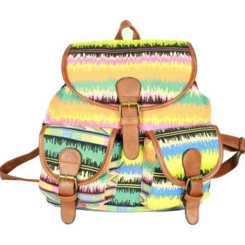 Tie Dye School Bag Canvas Backpack Daypack
