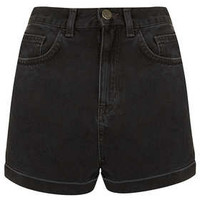MOTO Black  Shorts - Denim Shorts