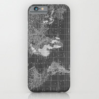 World Map Phone case, black and white  Samsung Galaxy S3,S4, S5  iphone 6, 4/4S, 5 - Beautiful maps Phone Cases, unique, gift