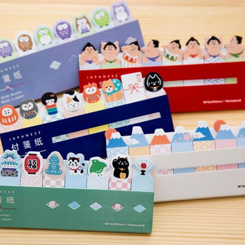 Novelty Japanese Style Mini Memo Pad N Times Sticky Notes Escolar Papelaria School Supply Bookmark Post it Label