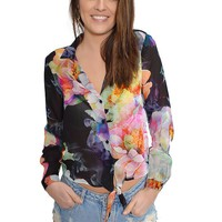 Midnight Paradise Blouse