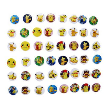 48 Pcs Pokemon Plastic Collectible Pins