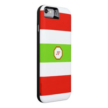 Stripes White Red Green iPhone 6 Case