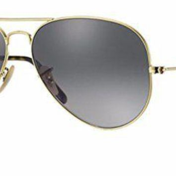 Cheap Ray Ban RB3025 181/71 62M Gold/Light Gray Gradient Dark Gray Aviator outlet