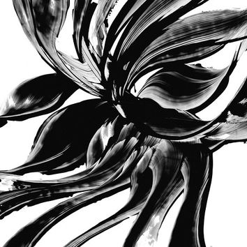 Black and White Painting BW Abstract Art Artwork High Contrast Depth Black Magic 326 Minimalism Minimalist Modern Contemporary Cummings