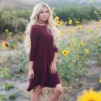 A Line Pocket Dress | Fall Swing Dress