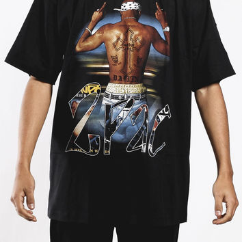Deadstock Vintage Tupac Middle Fingers T Shirt Sz XL – F As In Frank Vintage