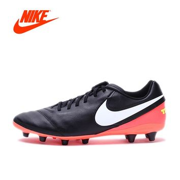 NIKE New Arrival TIEMPO GENIO II LEATHER AG-PRO Men's Football Cleats