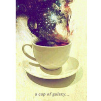 A Cup Of Galaxy Wall Poster Print Size 16X24