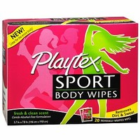 Playtex Sport Body Wipes, Fresh & Clean