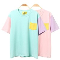Colorblock Tee from KoreAttire