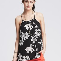 Banana Republic Womens Floral Pleated High/Low Cami