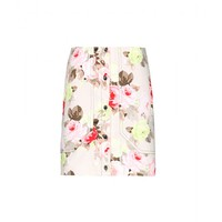 carven - floral-print cotton skirt
