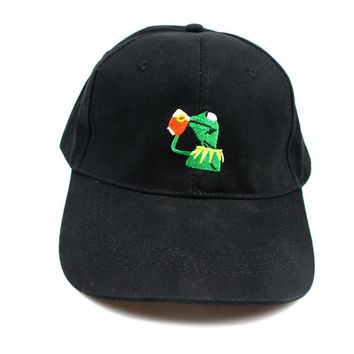 KERMIT NONE OF MY BUSINESS UNSTRUCTURED DAD HAT CAP FROG TEA LEBRON JAMES NEW casquette kenye west ye bear dad cap Big Daddy hat