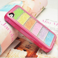 Unique Rainbow Sliding Colourful Hard Cover Case For Iphone 4/4s/5