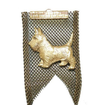PRIME DEALS Denise Brown Brooch, Scottish Terrier Brooch Pin, Scottish Terrier Jewelry, Vintage Jewelry Jewellery, Great Vintage Condition