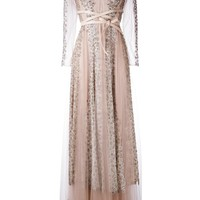 Valentino Crystal And Lace Gown - Farfetch