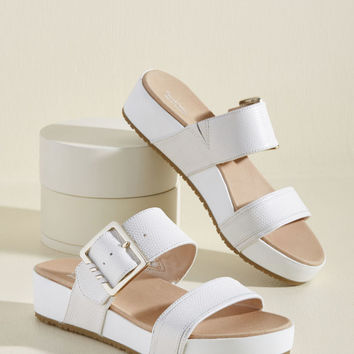 On My Buckle List Sandal in Ivory