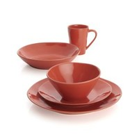 Marin Orange 4-Piece Place Setting