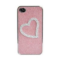 Heart-shaped Relief Frosted Hard Cover Case for Iphone 5