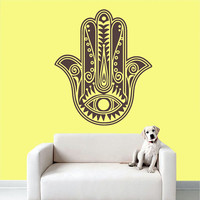 Wall Decal Vinyl Sticker Decals Art Decor Design Hamsa Hand yin yang Eyes Indian Buddha Ganesh Lotos Modern Dorm Bedroom (r588)
