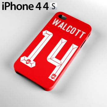 Theo Walcott Jersey 14 Case For iPhone 4 / 4S, 5 / 5S, 6 / 6S, 6 Plus / 6S Plus