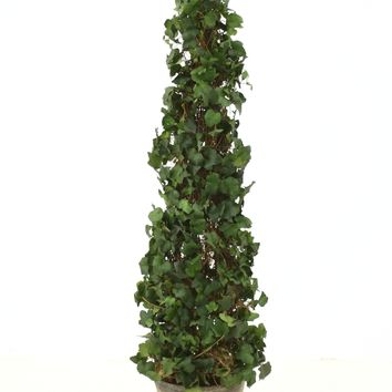 """53"""" Ivy Topiary in Mossed Concrete Pot"""
