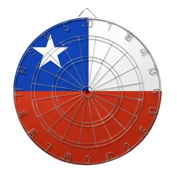 Dartboard with Flag of Chile