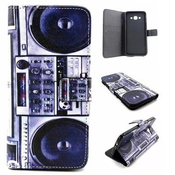Retro Classic Radio Leather Case Cover Wallet for iPhone & Samsung Galaxy-170928