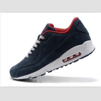 NIKE leisure sports running shoes Dark blue red