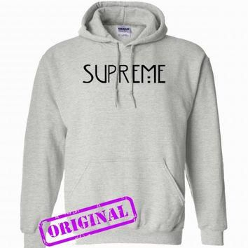 supreme american horror story copy for hoodie ash, hooded ash unisex adult