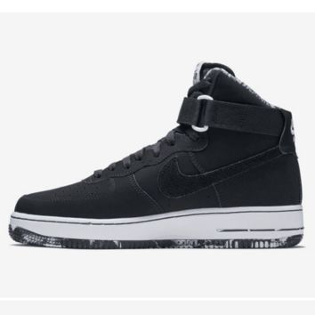 NIKE Women Men Running Sport Casual Shoes Air force High tops Black