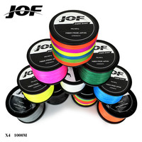 JOF 1000m 18LB - 80LB PE Multifilament 4 Strands Braid Line Ocean Fishing Super Strong Carp Colorful Braided Fishing Line