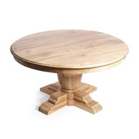 Vineyard Round Dining Table Recycled Elm Wood 60""